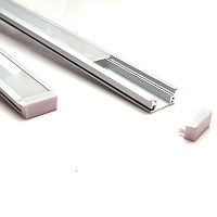 Sample Length (approx 20cm) of Floor Mounted Aluminium Profile
