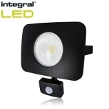 20 Watt 'Compact-Tough' Integral LED Flood Light With PIR