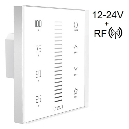 Wired Touch Panel LED Strip Dimmer, 12V - 24V - Click Image to Close