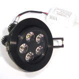 5 Watt LED Downlight Ceiling Light Black
