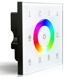 dx8 wall mounted touch led controller led lighthouse rgb w multi zone wall mounted led strip controller