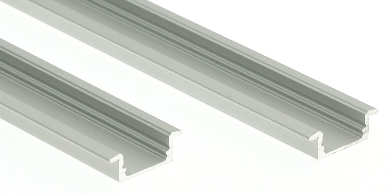 Thin recessed aluminium housing for led strip 2 metre thin recessed aluminium housing for led strip mozeypictures Images