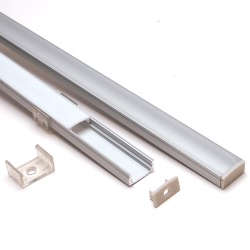 Thin surface mount aluminium channel for led strip lights 2 metre shallow aluminium channel for led strip lights mozeypictures Choice Image