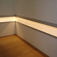 Wall Recessed Aluminium Profile For LED Strip - 2 Metres